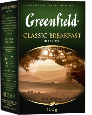 Чай GREENFIELD Classic Breakfast черный 100г