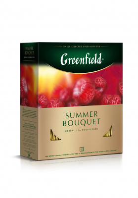 Чай Greenfield Summer Bouquet с ароматом малины 100пак*2г