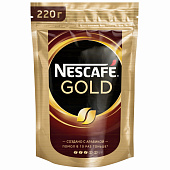 Кофе Nescafe Gold растворимый 220г
